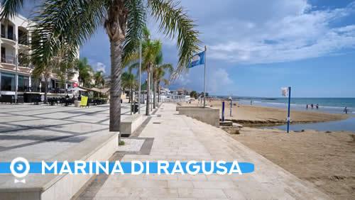 La spiagia di Marina di Ragusa