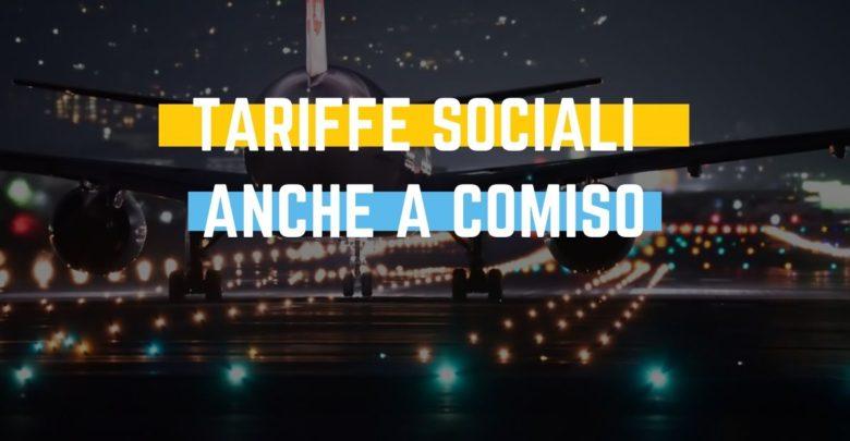 Tariffe sociali e continuità territoriale per Comiso