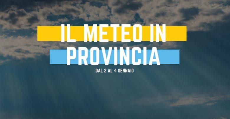 Il meteo in provincia di Ragusa dal 2 al 4 gennaio
