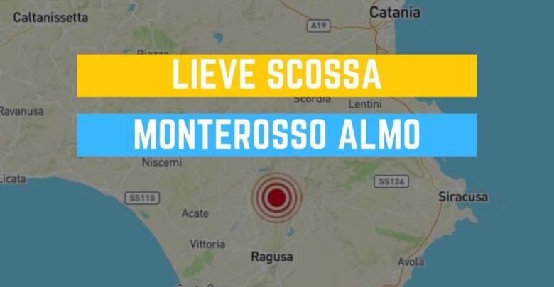 scossa di terremoto a Monterosso Almo